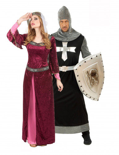 Ridder en koningin duo pak