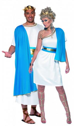 Blauw Romeins koppel kostuum