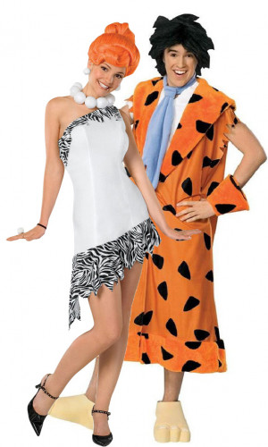 Wilma en Fred Flintstone™ koppel kostuums