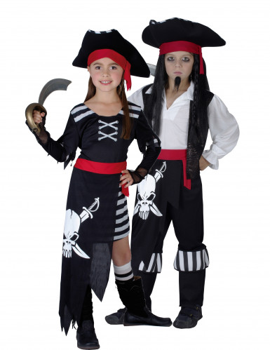 Botten piraten duokostuums voor kinderen