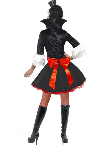 Zwart met rood vampieren kostuum voor dames-1