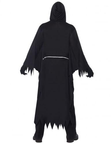 Zwart gekarteld Magere Hein kostuum voor volwassenen-2
