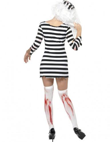 Zombie vrouw gevangene kostuum-1