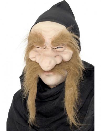 Oude tovenaar masker voor volwassenen Halloween accessoire