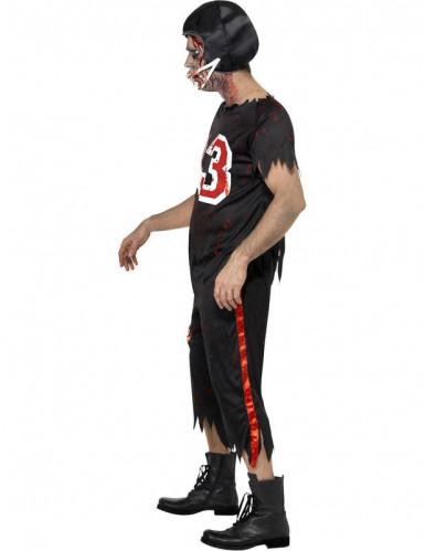 American football zombie kostuum voor heren Halloween pak-2