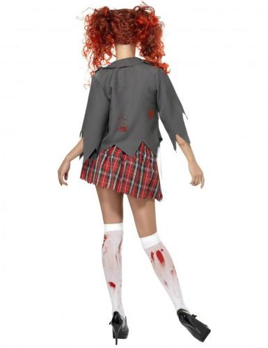 Zombie schoolmeisje kostuum Halloween outfit-1
