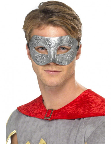 Metal kleurige halfmasker