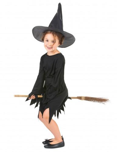 Zwart heksenkostuum voor meisjes-1