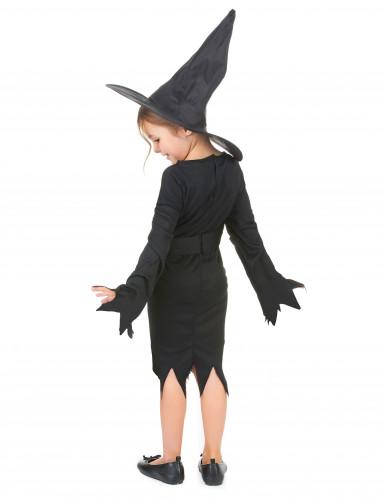 Zwart heksenkostuum voor meisjes-2