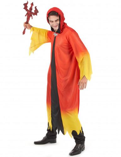 Rood-geel duivel kostuum voor heren Halloween-1