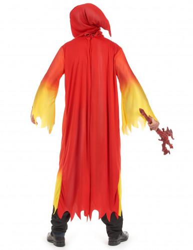 Rood-geel duivel kostuum voor heren Halloween-2