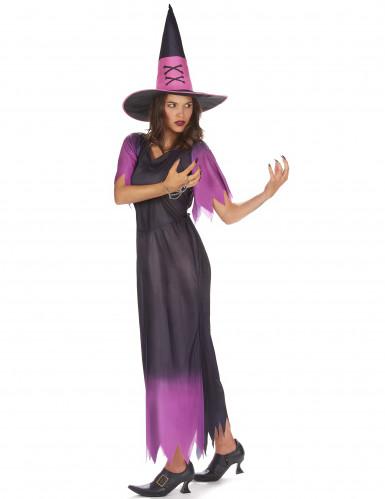 Paarse heks outfit met kleurverloop voor dames-1