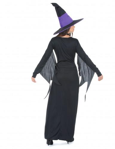 Zwart met paars heks kostuum voor vrouwen-2