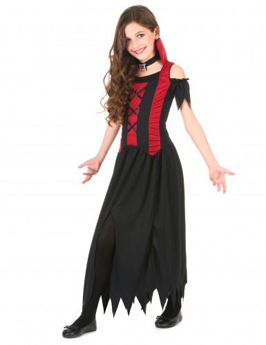 Zwart vampierskostuum voor meisjes-1