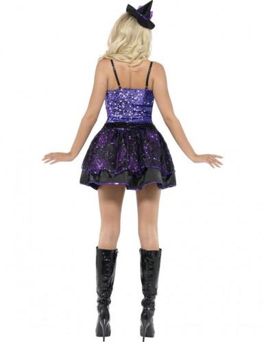 Glinsterend paars heksen kostuum voor vrouwen-1