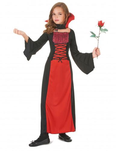 Rood vampierenkostuum voor meisjes-1