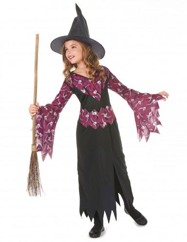 Doodskop paars heksenkostuum voor meisjes-1