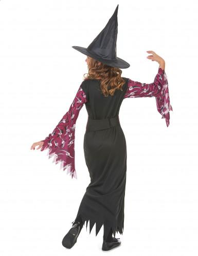Doodskop paars heksenkostuum voor meisjes-2