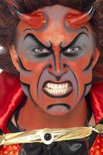 Halloween make up kit duivel met hoorens voor volwassenen