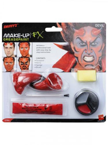Halloween make up kit duivel met hoorens voor volwassenen-1