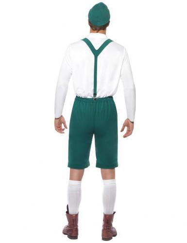 Groen Tiroler lederhoses pak voor heren-1