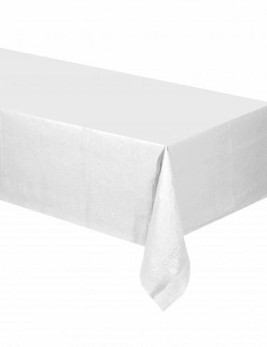 Wit tafelkleed met grijze patronen