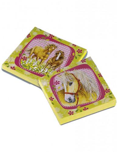 20 paarden servetten 33 x 33 cm