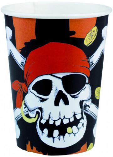 Set van 8 wegwerp bekers Piraat