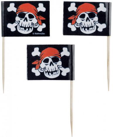 Cocktailprikkers met piratenvlag