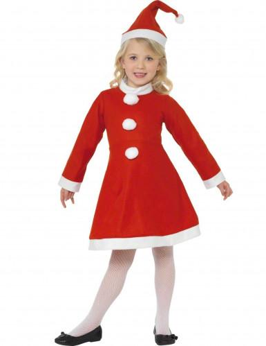 Kleine kerstvrouw kostuum voor meisjes