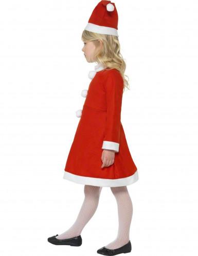 Kleine kerstvrouw kostuum voor meisjes-1
