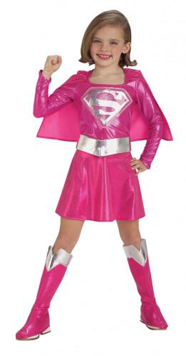 Roze Supergirl™ kostuum voor meisjes