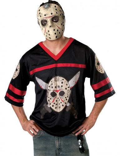 Jason™ Friday the 13th T-shirt en masker voor volwassenen