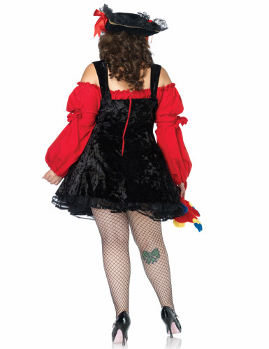 Rood piraten kostuum voor vrouwen - Plus Size-1