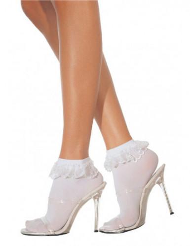 Witte kanten sokjes voor dames