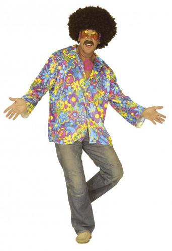 Blauw hippie kostuum voor volwassenen