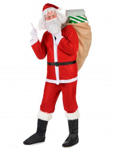 Traditioneel kerstman pak voor volwassenen-1