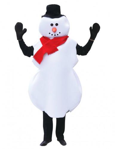 Verkleedkostuum Sneeuwman voor volwassenen Kerst