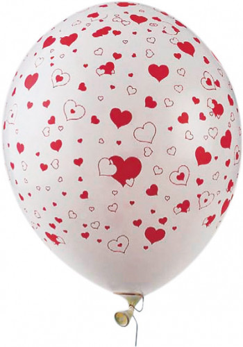 50 hartvormige ballonnen