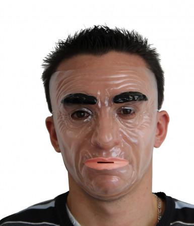 Masker van een ernstige man