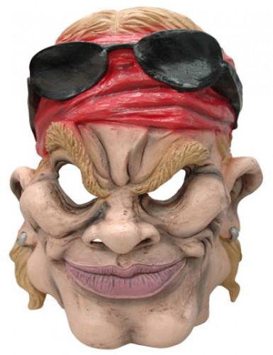 Latex heavy metal rocker masker