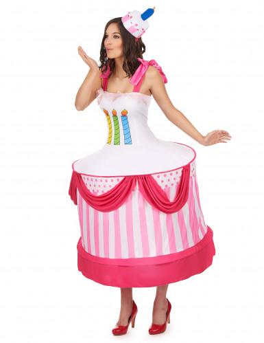 Verjaardagstaart kostuum voor vrouwen-1