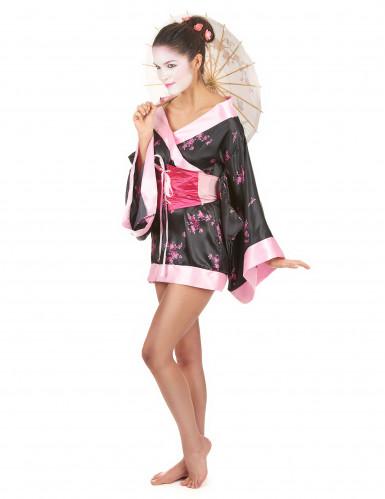 Kort geisha kostuum voor dames-1