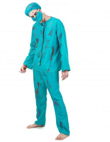 Halloween Zombiechirurgenkostuum voor mannen-1