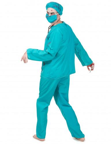 Halloween Zombiechirurgenkostuum voor mannen-2