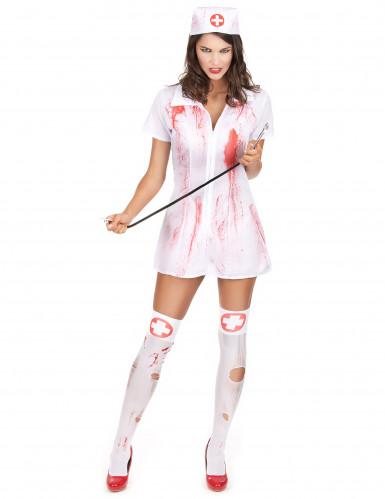 Halloweenkostuum van een psychopathisch verpleegster