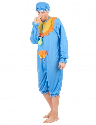 Blauwe baby kostuum voor mannen-1