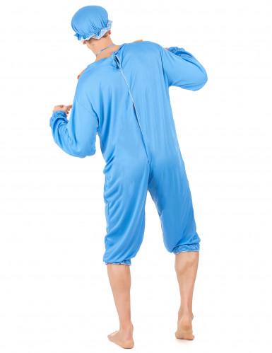 Blauwe baby kostuum voor mannen-2