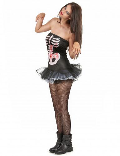 Sexy skelet kostuum voor vrouwen-1