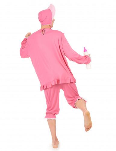 Roze babykostuum voor heren-2